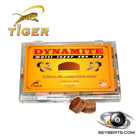 Tiger Dynamite Layered Cue Tip tiger pool cue tip tiger dynamite pool cue tip
