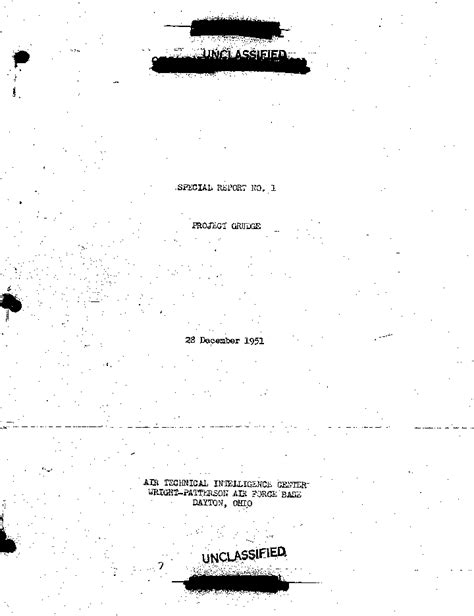 project blue book special report 14 ufo ufos at sight officials usaf s project