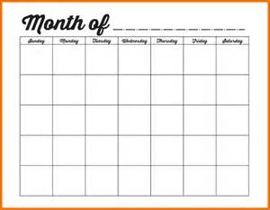 Month Calendar Template by Calendar Month Template Family Binder Blank Monthly