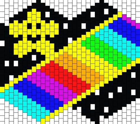 road pattern png mario kart 64 rainbow road mask bead pattern peyote bead