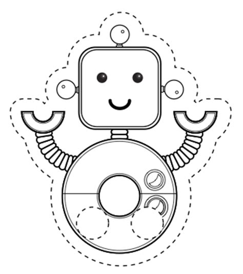 Little Robot Finger Puppet Pi Ikea St Robot Craft Template
