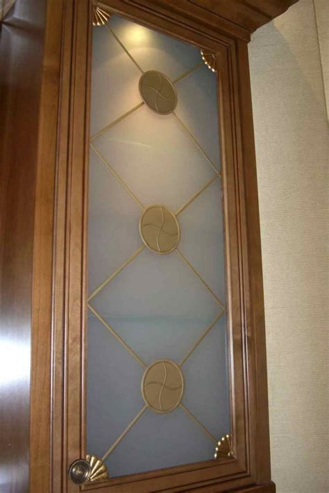 curio frosted cabinet glass decorative glass inserts