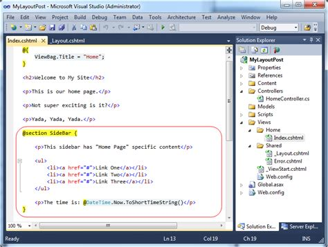 section razor scottgu s blog asp net mvc 3 layouts and sections with