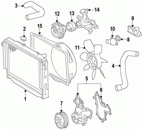 2008 toyota tundra parts diagram parts 174 toyota pulley water partnumber 161730s010