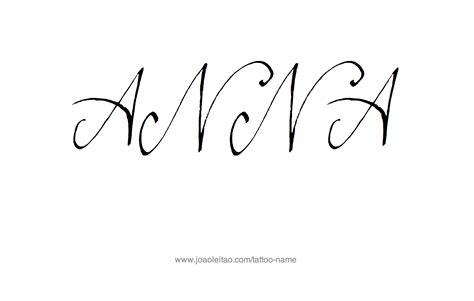 tattoo name ana anna name tattoo designs