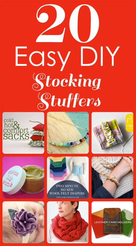 Handmade Stuffers - 20 easy diy stuffers icandy handmade