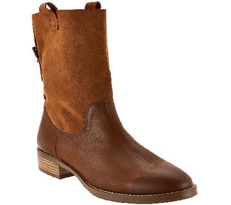 sole society boots sole society leather and suede ankle boots qvc
