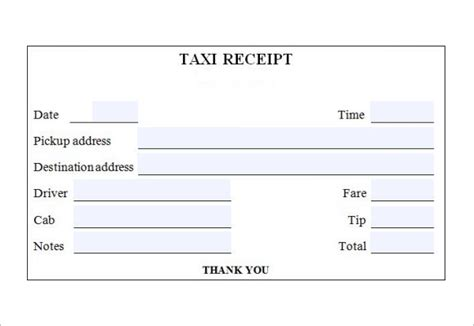houston taxi receipt template 18 taxi receipt templates free sles exles