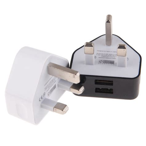 Samsung Usb Travel Charger Output 2 0 A uk mains wall travel adapter charger 2 dual usb iphone samsung htc ebay