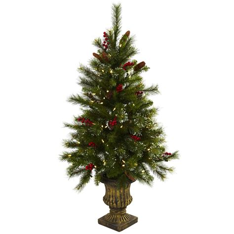 4 foot artificial christmas tree w berries pine cones