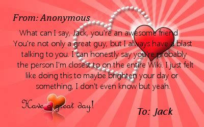 valentines letter for a friend s day letter for you glee wiki