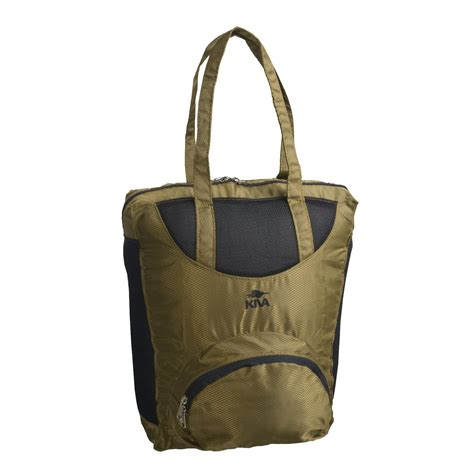 kiva designs collapsible tote bag self storing 2354n
