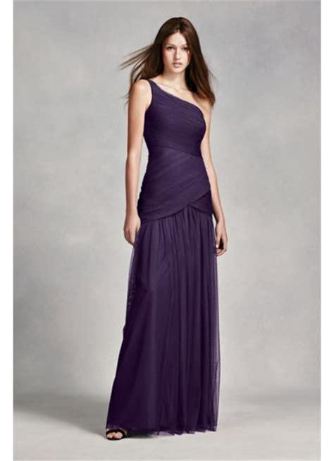 Longdress Sabrina Vera white by vera wang one shoulder illusion dress david s bridal