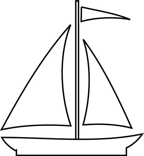 big boat outline free coloring pages of boat outline