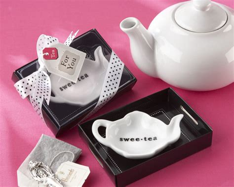 Tea Party Giveaways - tea party favors tea bag holders tea bag caddies