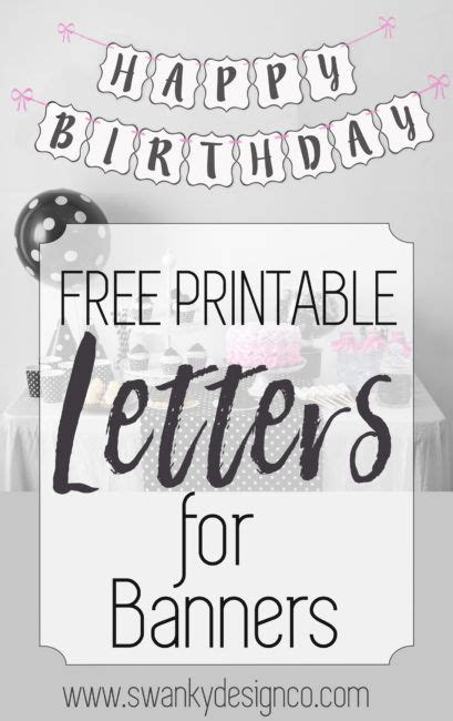 free printable alphabet numbers 25 unique diy banner ideas on pinterest diy party