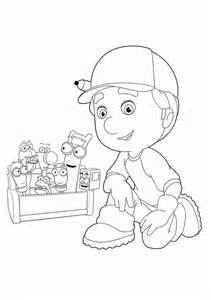 handy manny coloring pages coloring pages for everyone handy manny