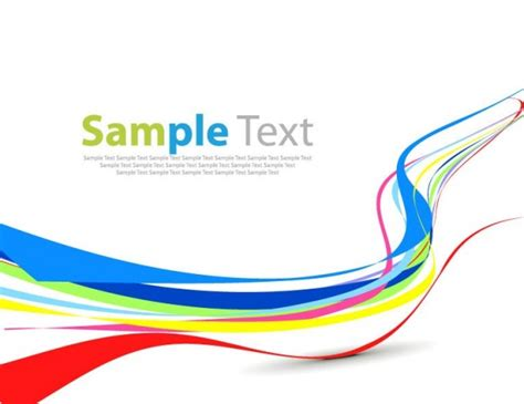colorful wave simple abstract design vector vector free