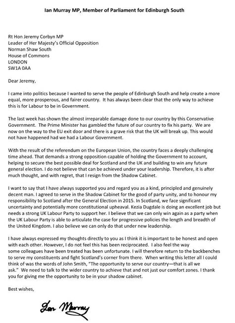 Labour MP Shadow Cabinet Resignation Letters: Ranked! - VICE
