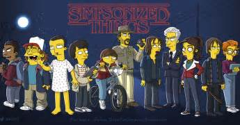 Your Good Selves - the stranger things cast and other famous characters simpsonized