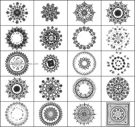 design elements for photoshop decorative circle brushes free download 123freebrushes