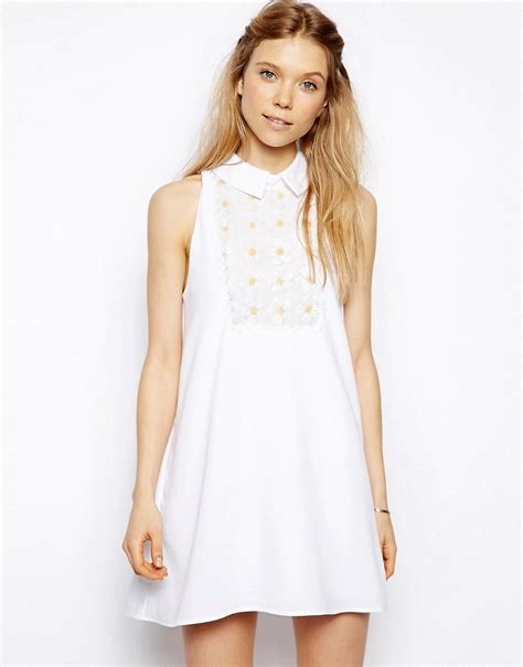 white swing dress little white lies little white lies swing dress with