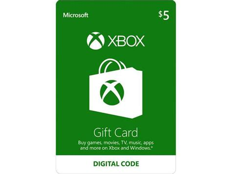 xbox gift card 5 us email delivery newegg com - 5 Xbox Gift Card