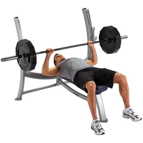 what is the weight of a bench press bar olympic bench press cybex