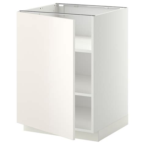ikea kitchen base cabinet metod base cabinet with shelves white veddinge white 60x60 cm ikea
