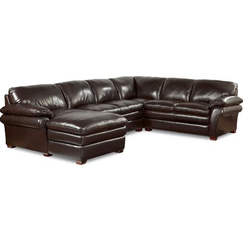 lazy boy leather sectionals la z boy 410 brock sectional discount furniture at hickory