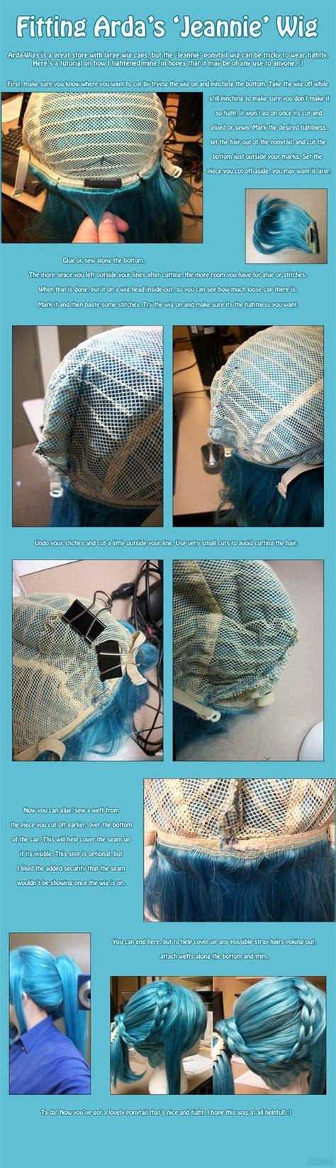 tutorial wig fitting arda s jeannie wig tutorial by prettykitty on