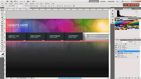 tutorial web design in photoshop photoshop tutorial web design colorful rainbow video library