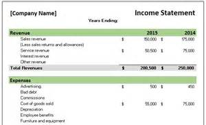 income statement template for service company free accounting templates in excel