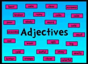 are colors adjectives words in adjectives