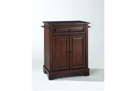 crosley lafayette kitchen island with solid black granite lafayette solid black granite top portable kitchen island