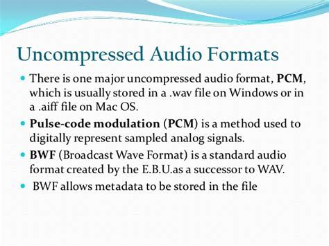 format file audio pcm ppt on audio file formats