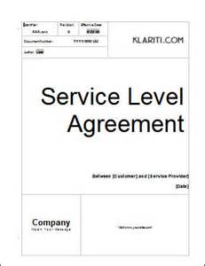service level agreement template 2 ms word 3
