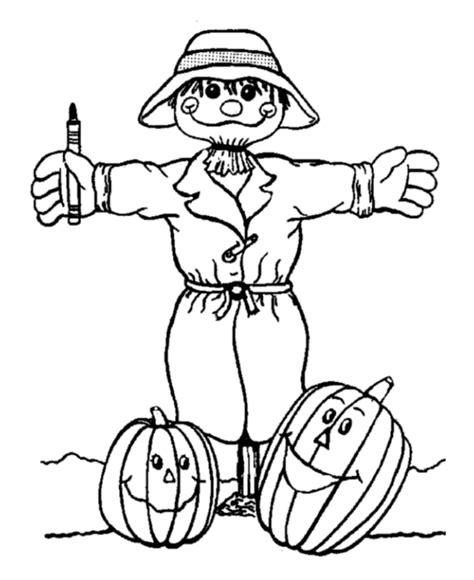 pumpkin scarecrow coloring pages fall pumpkin coloring pages coloring home