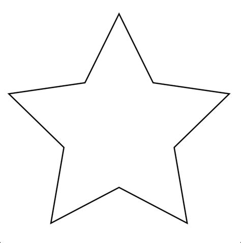 printable star drawing image gallery large star templates printable