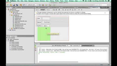 swing database application exle creating a basic database swing app with netbeans 4 of 6
