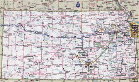 usa map ks large detailed roads and highways map of kansas state with