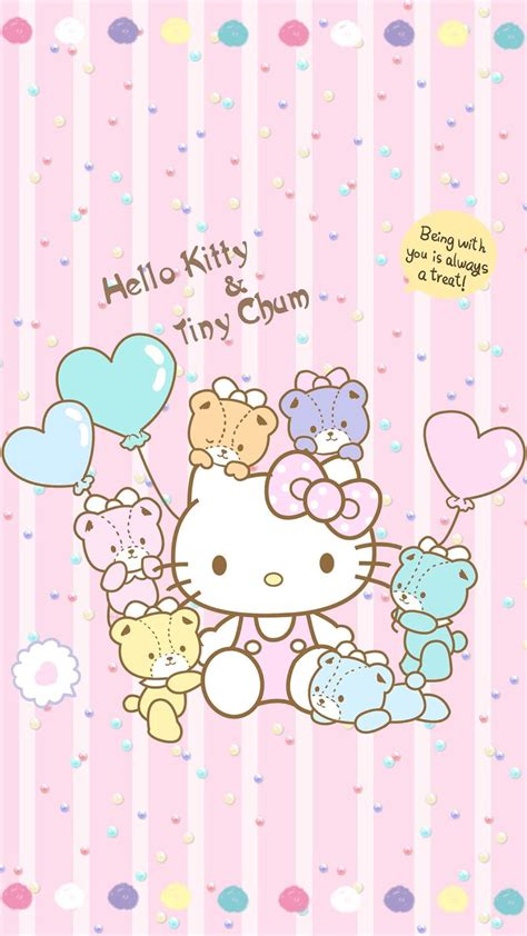 wallpaper hello kitty mini sanrio pom pom purin and macaron wallpaper 183