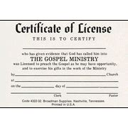 minister license id card template christian certificates