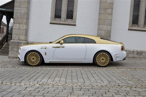 rolls royce gold and white mansory s rolls royce wraith palm edition 999 is garnished