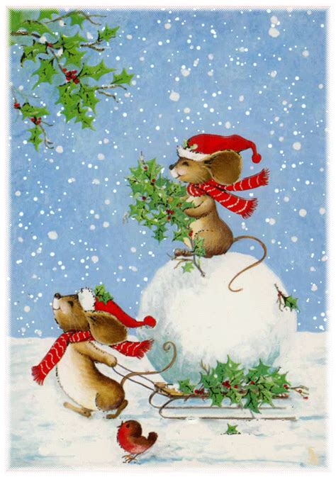 cute animated christmas mice pictures   images  facebook tumblr pinterest