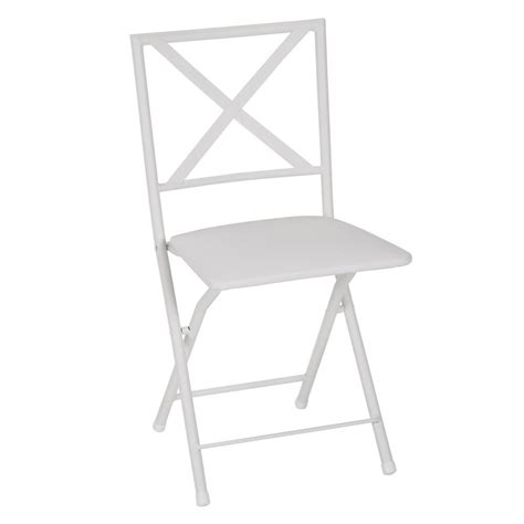 white metal folding chairs cosco x back white metal folding dining chair with vinyl