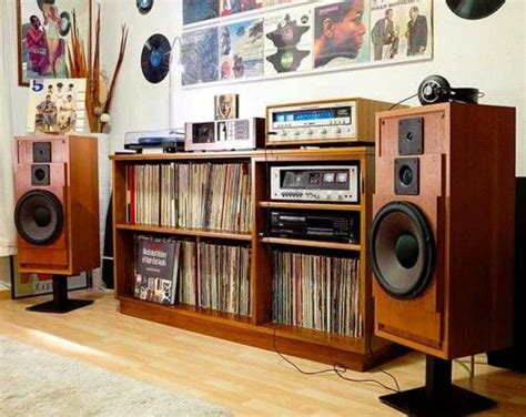the vinyl room beautiful cabasse speakers on a vintage electronic setup photo credit mardy salazar