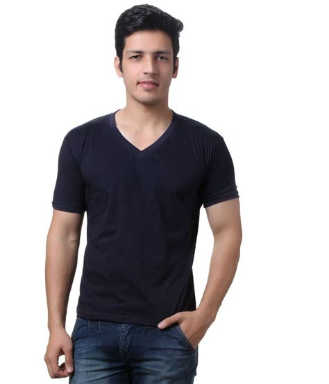 Navy Vneck Sleeve Tshirt Cotton teemoods navy cotton v neck half sleeves t shirt buy teemoods navy cotton v neck half sleeves