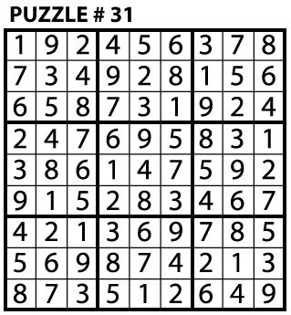 printable sudoku puzzles with answers image gallery sudoku answer