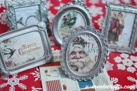 diy mini picture frame christmas ornament  create